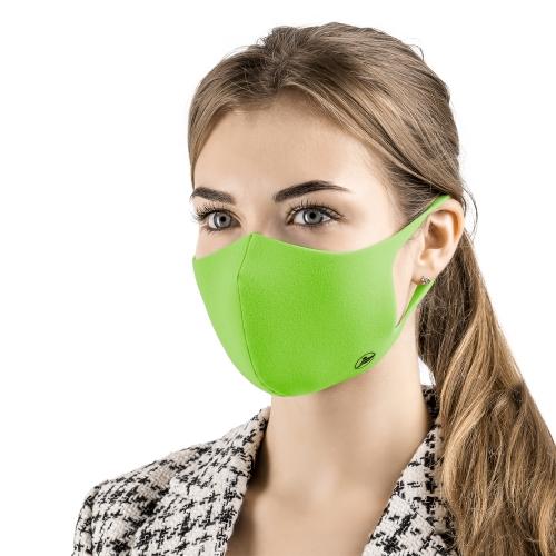 Многоразовая маска для лица с ионами серебра - цвет зелёный
