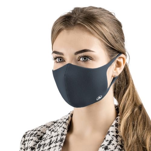 Маска многоразовая защитная для лица - цвет синий