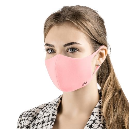 Многоразовая маска для лица с ионами серебра - цвет розовый