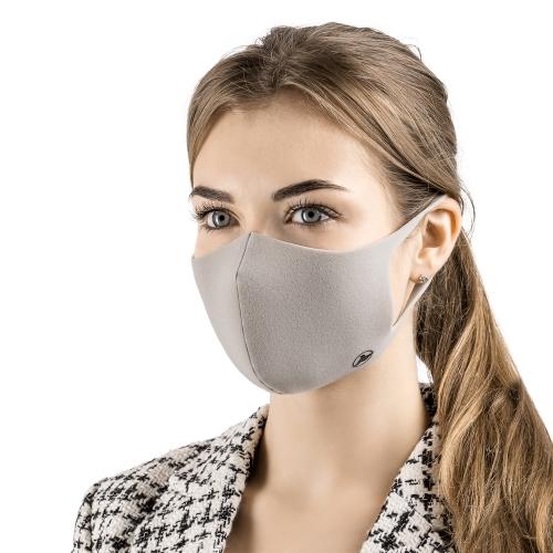 Многоразовая маска для лица Aero Silver Mask - цвет серый