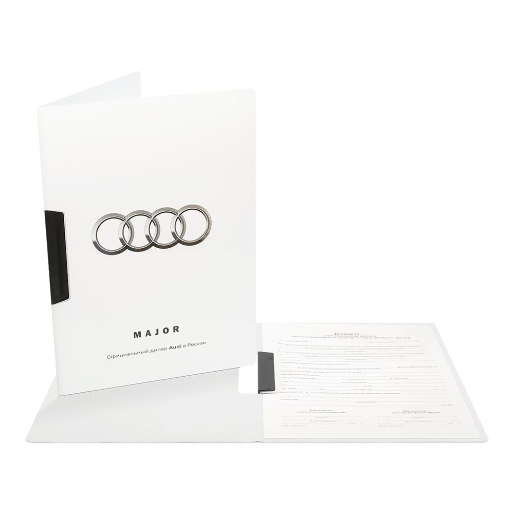 Папка с печатью и замимом Audi