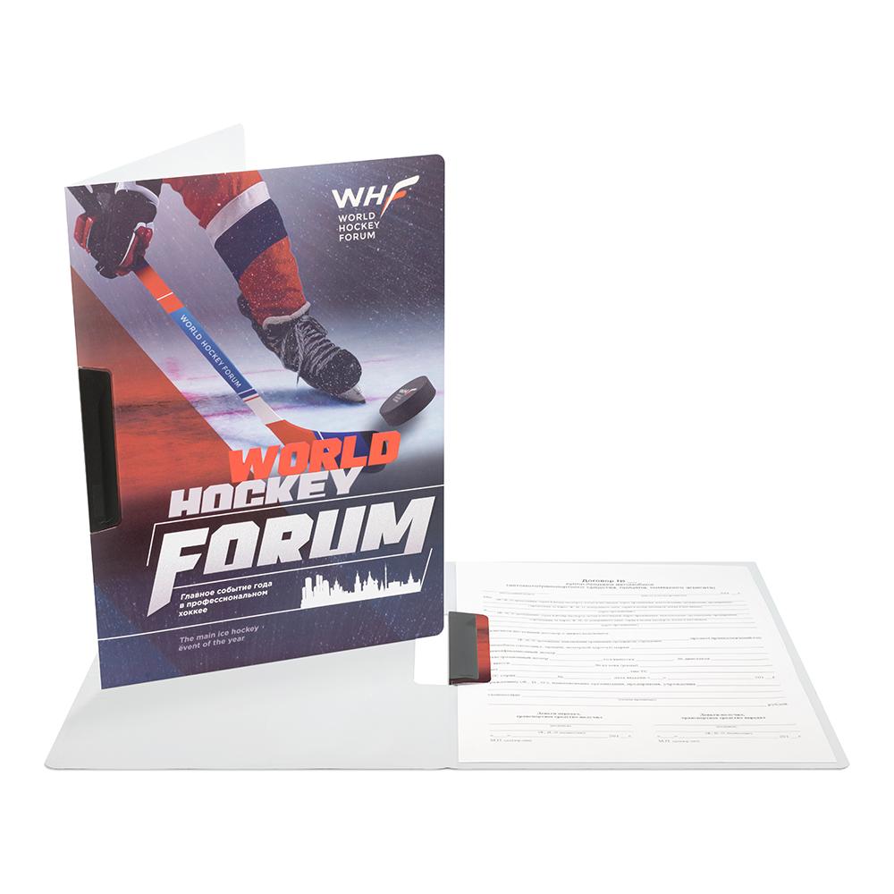 Жесткая папка с зажимом WHF