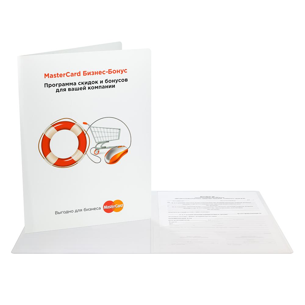 Жесткая папка с карманом для визитки